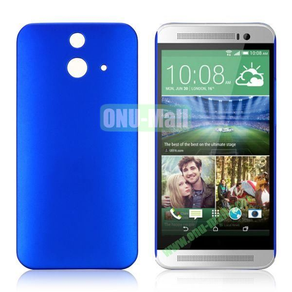 Pure Color Rubberized Coating Hard Plastic Case for HTC One E8 Ace (Blue)