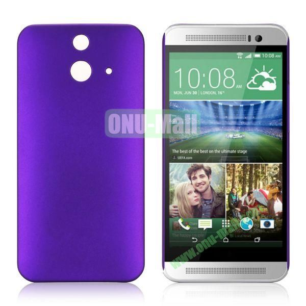 Pure Color Rubberized Coating Hard Plastic Case for HTC One E8 Ace (Purple)