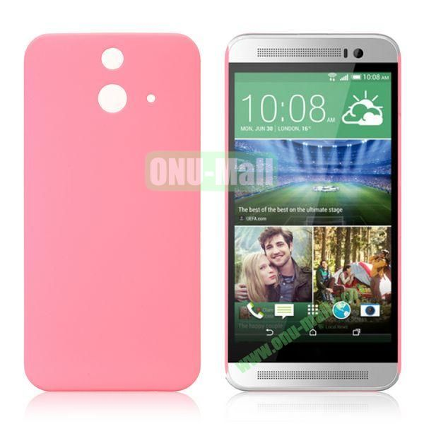 Pure Color Rubberized Coating Hard Plastic Case for HTC One E8 Ace (Pink)