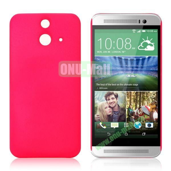 Pure Color Rubberized Coating Hard Plastic Case for HTC One E8 Ace (Rose)