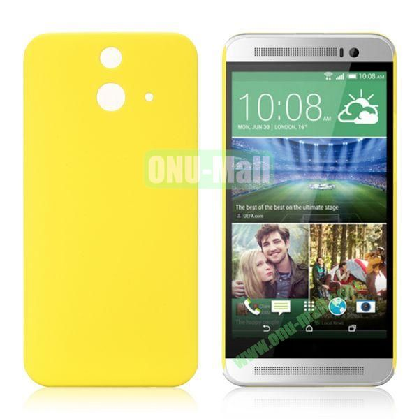 Pure Color Rubberized Coating Hard Plastic Case for HTC One E8 Ace (Yellow)