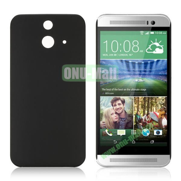 Pure Color Rubberized Coating Hard Plastic Case for HTC One E8 Ace (Black)