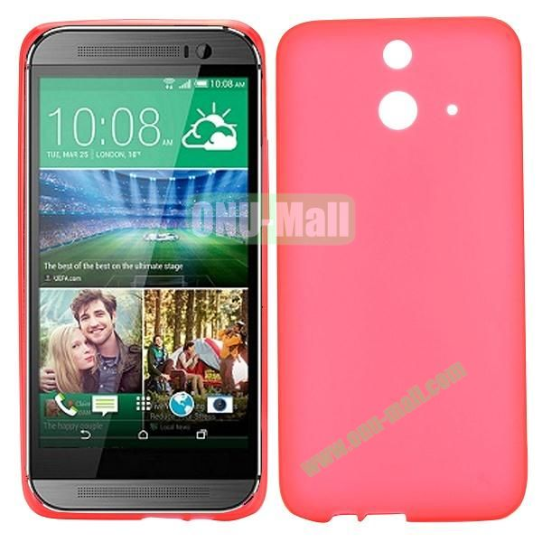 Smooth Solid Color TPU Case for HTC One E8 Ace (Red)