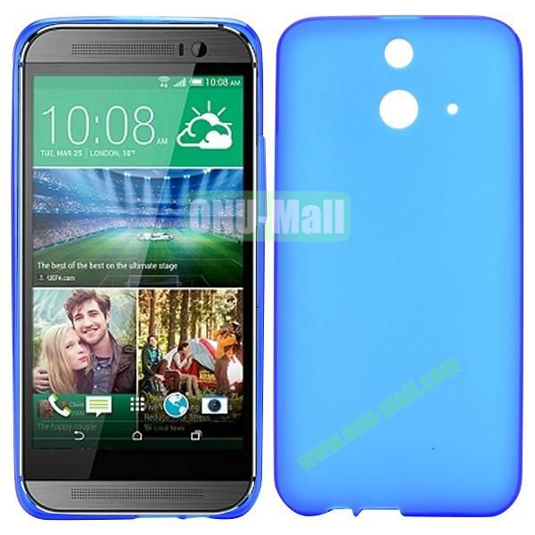 Smooth Solid Color TPU Case for HTC One E8 Ace (Dark Blue)
