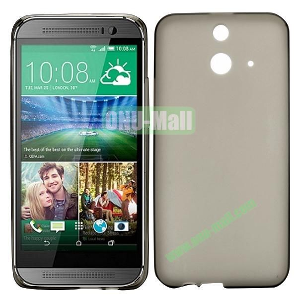 Smooth Solid Color TPU Case for HTC One E8 Ace (Grey)