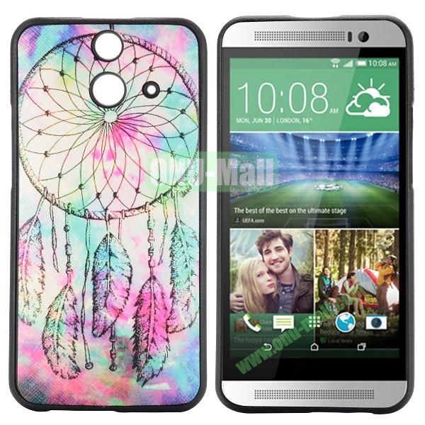 Cartoon Pattern Cross Texture Leather Coated TPU Cover Case for HTC One (E8) Ace (Fancy Dreamcatcher)