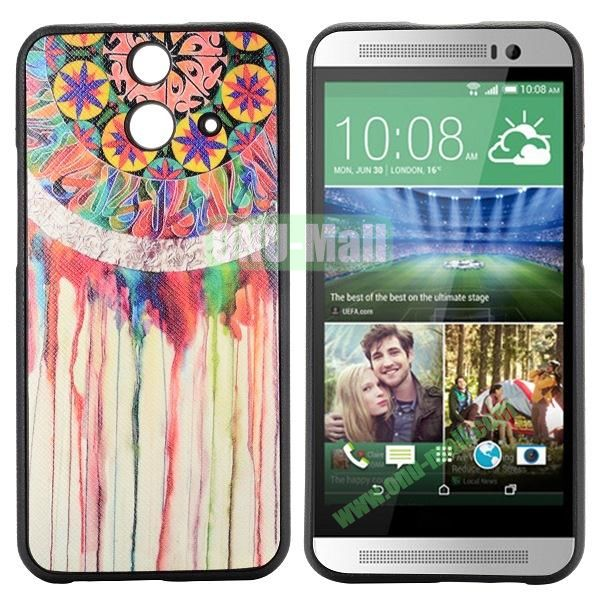 Cartoon Pattern Cross Texture Leather Coated TPU Cover Case for HTC One (E8) Ace (Tribal Pattern)
