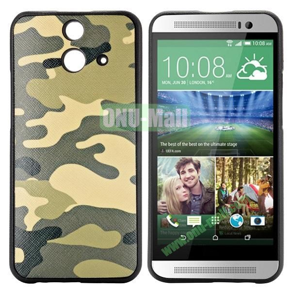 Cartoon Pattern Cross Texture Leather Coated TPU Cover Case for HTC One (E8) Ace (Camouflage)