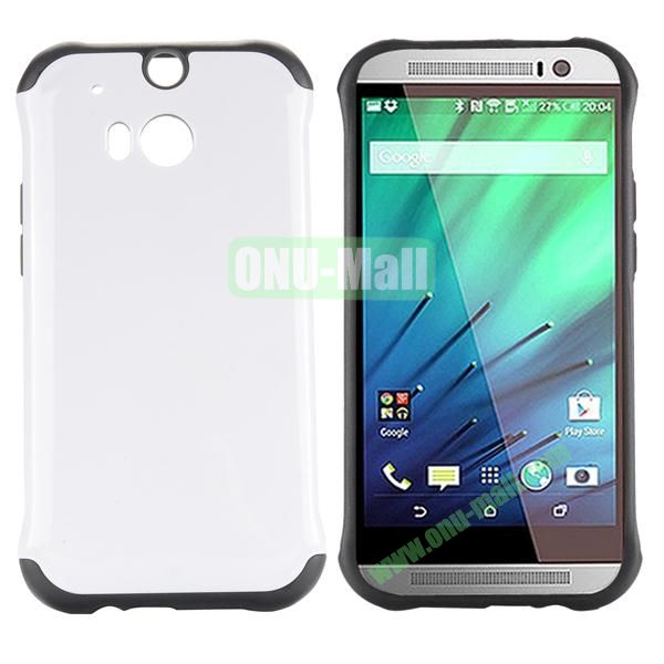 Two in One Pattern PC and TPU Hybrid Case for HTC One M8 (White)