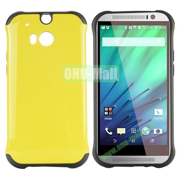 Two in One Pattern PC and TPU Hybrid Case for HTC One M8 (Yellow)