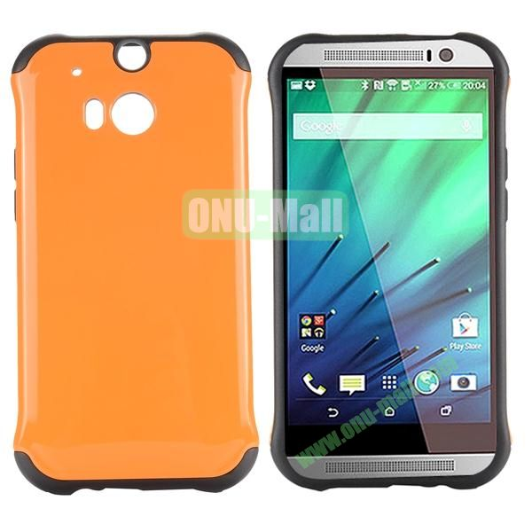 Two in One Pattern PC and TPU Hybrid Case for HTC One M8 (Orange)