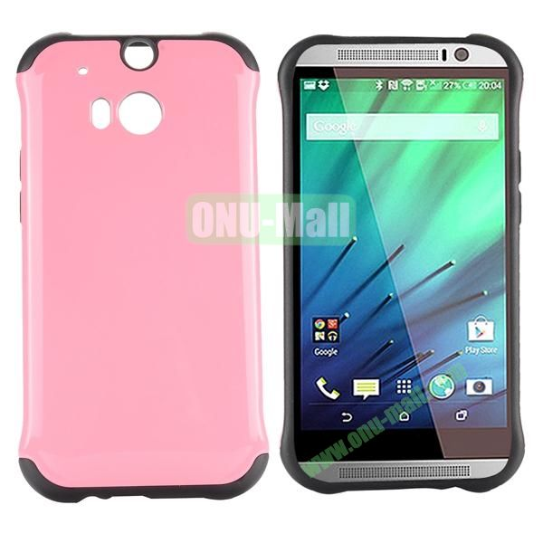 Two in One Pattern PC and TPU Hybrid Case for HTC One M8 (Rose)