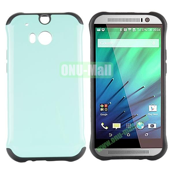 Two in One Pattern PC and TPU Hybrid Case for HTC One M8 (Baby Blue)