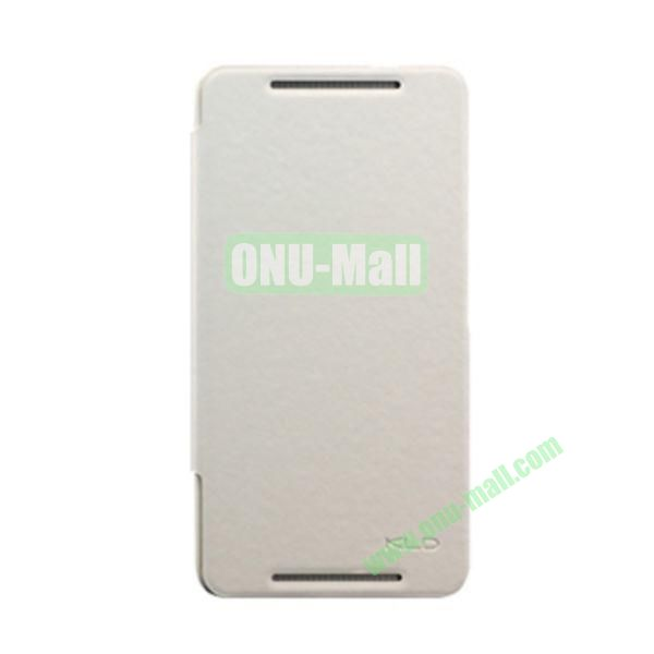 Ultra-Slim KLD England Series Flip Leather Cases for HTC One Max  T6 (White)