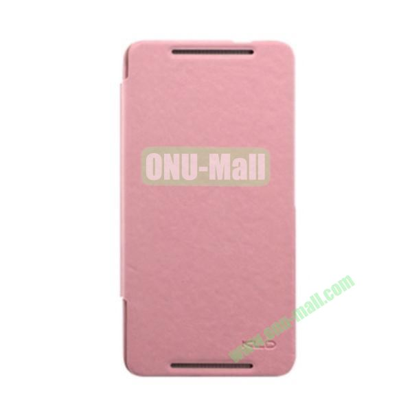 Ultra-Slim KLD England Series Flip Leather Cases for HTC One Max  T6 (Pink)