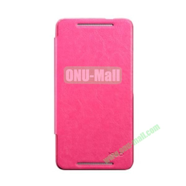 Ultra-Slim KLD England Series Flip Leather Cases for HTC One Max  T6 (Rose)