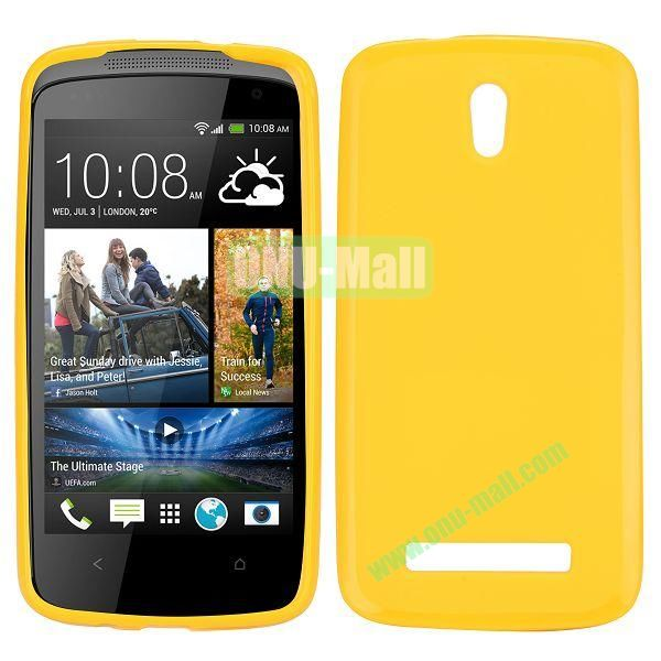 Solid Color TPU Case for HTC Desire 500  506e (Yellow)