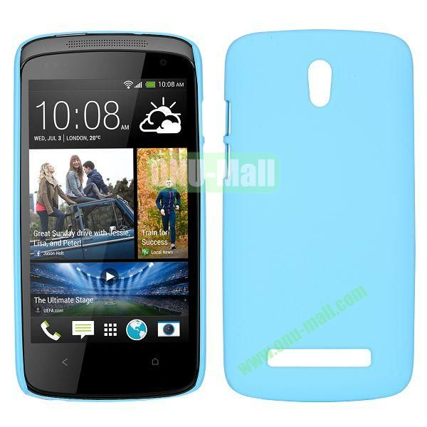 Hot Sell Smooth Hard Case for HTC Desire 500  506e (Light Blue)