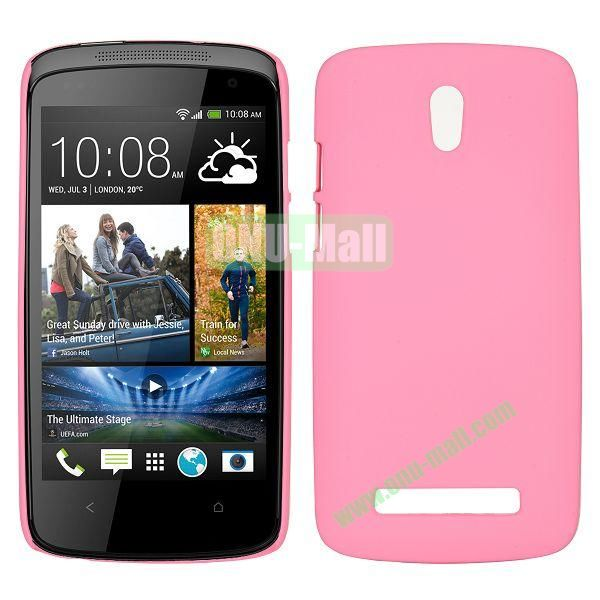 Hot Sell Smooth Hard Case for HTC Desire 500  506e (Pink)