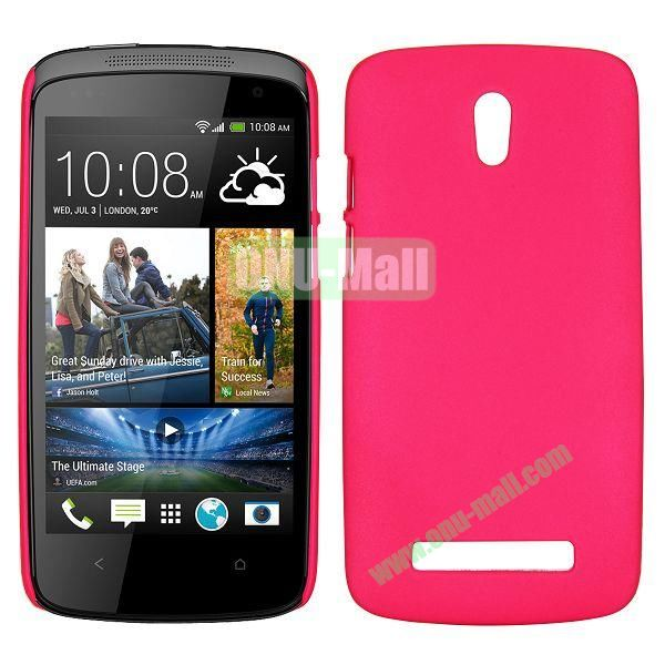 Hot Sell Smooth Hard Case for HTC Desire 500  506e (Red)