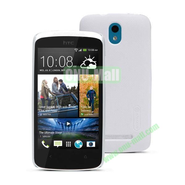Nillkin Brand Hard Case for HTC Desire 500  506e with a Screen Protector (White)
