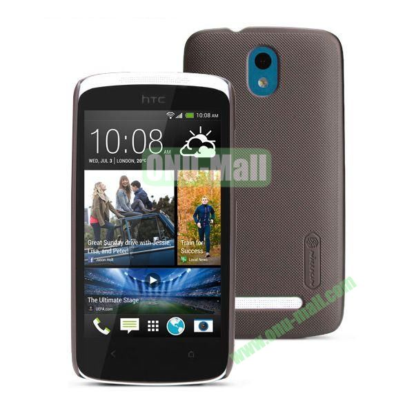 Nillkin Brand Hard Case for HTC Desire 500  506e with a Screen Protector (Brown)