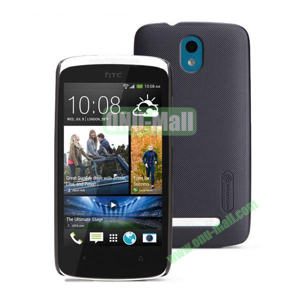 Nillkin Brand Hard Case for HTC Desire 500  506e with a Screen Protector (Black)