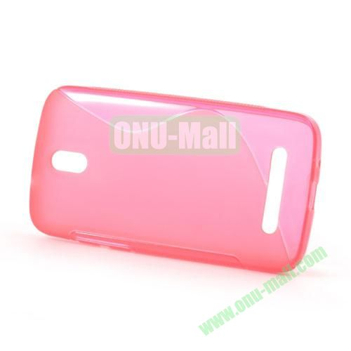 S Shape TPU Case for HTC Desire 500  506E (Pink)