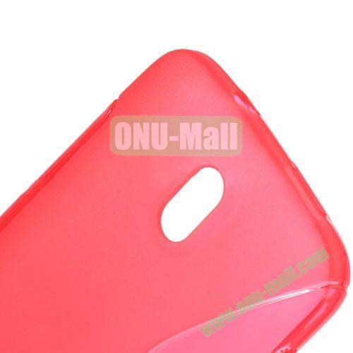 S Shape TPU Case for HTC Desire 500  506E (Red)