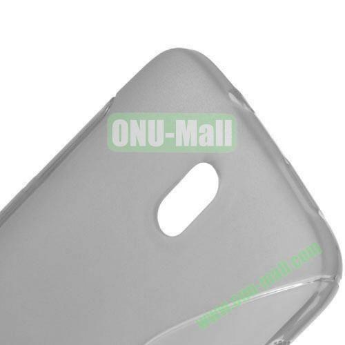 S Shape TPU Case for HTC Desire 500  506E (Grey)