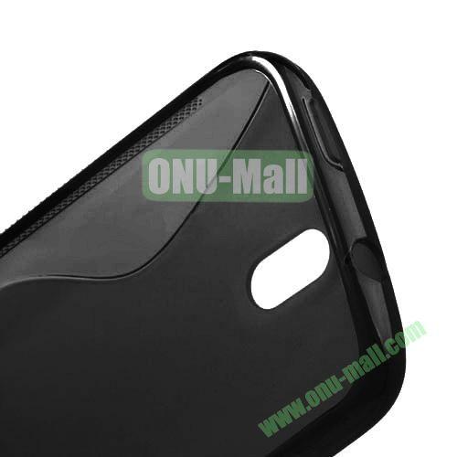 S Shape TPU Case for HTC Desire 500  506E (Black)