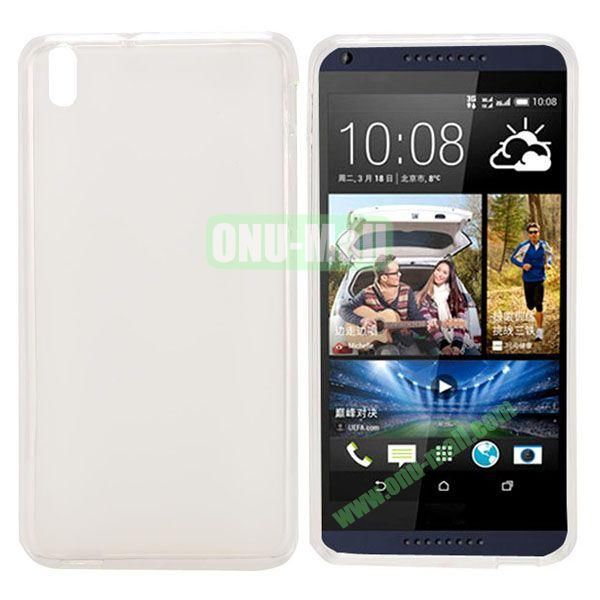 Transparent TPU Case Cover for HTC Desire 816800A5 (White)