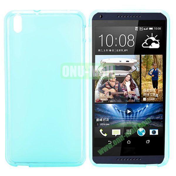 Transparent TPU Case Cover for HTC Desire 816800A5 (Blue)