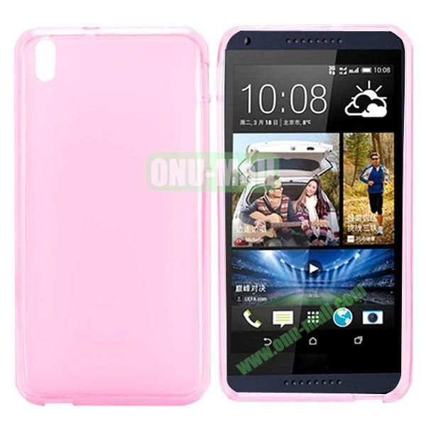 Transparent TPU Case Cover for HTC Desire 816800A5 (Pink)