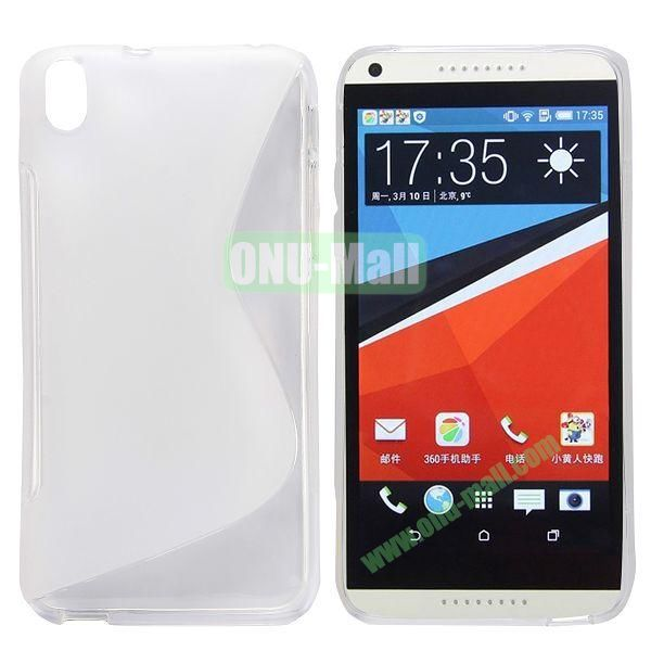 S Shape Frosted TPU Case For HTC Desire 816800A5 (White)