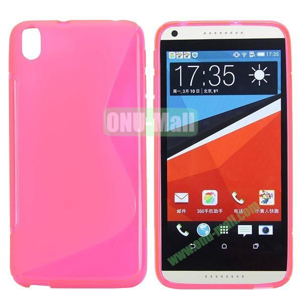 S Shape Frosted TPU Case For HTC Desire 816800A5 (Pink)