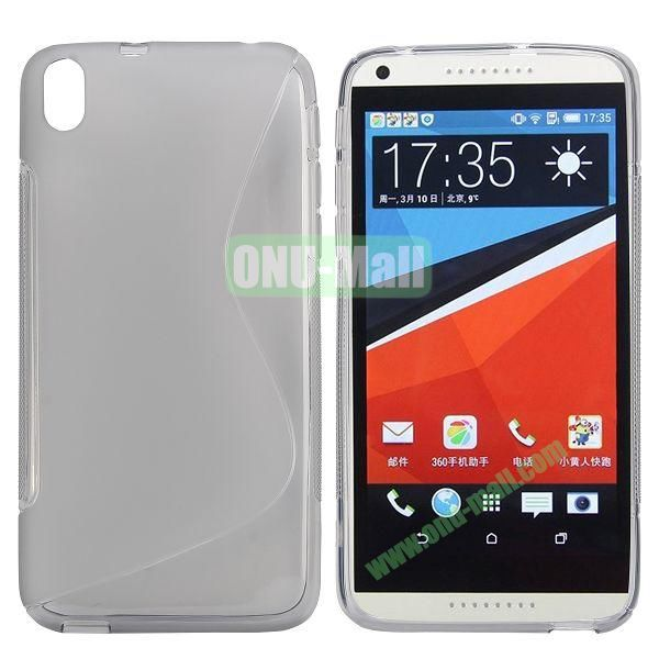 S Shape Frosted TPU Case For HTC Desire 816800A5 (Gray)