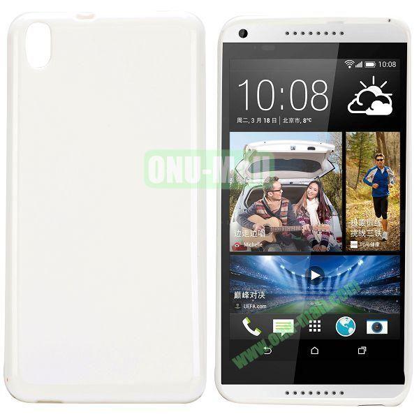 Solid Color TPU Case for HTC Desire 816 (White)