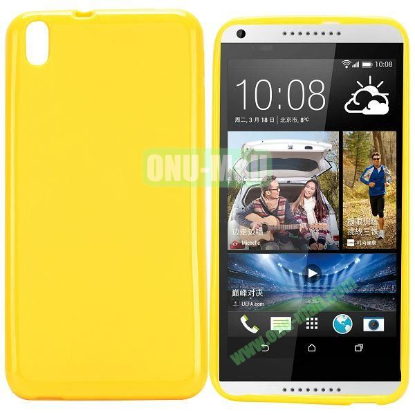 Solid Color TPU Case for HTC Desire 816 (Yellow)