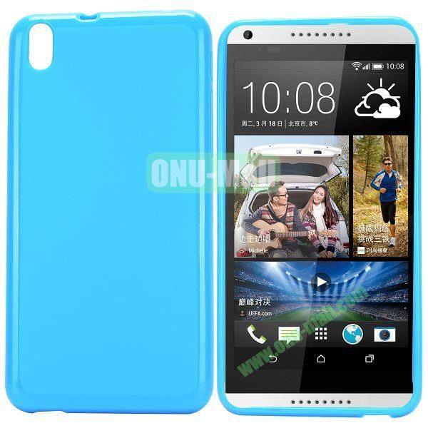 Solid Color TPU Case for HTC Desire 816 (Blue)