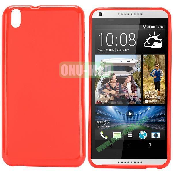 Solid Color TPU Case for HTC Desire 816 (Red)