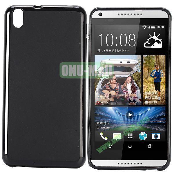 Solid Color TPU Case for HTC Desire 816 (Black)