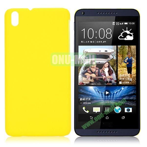 Solid Color Oil Coated Hard Case for HTC Desire 816 (Yellow)