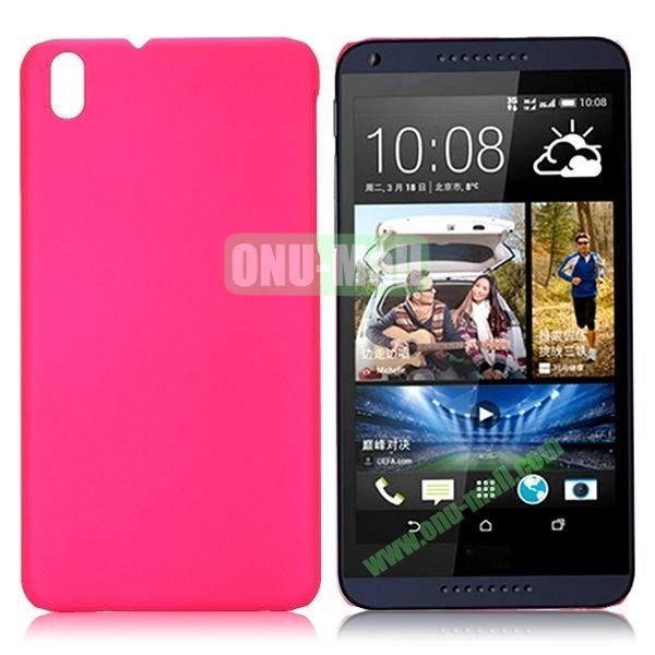 Solid Color Oil Coated Hard Case for HTC Desire 816 (Rose)