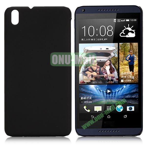 Solid Color Oil Coated Hard Case for HTC Desire 816 (Black)