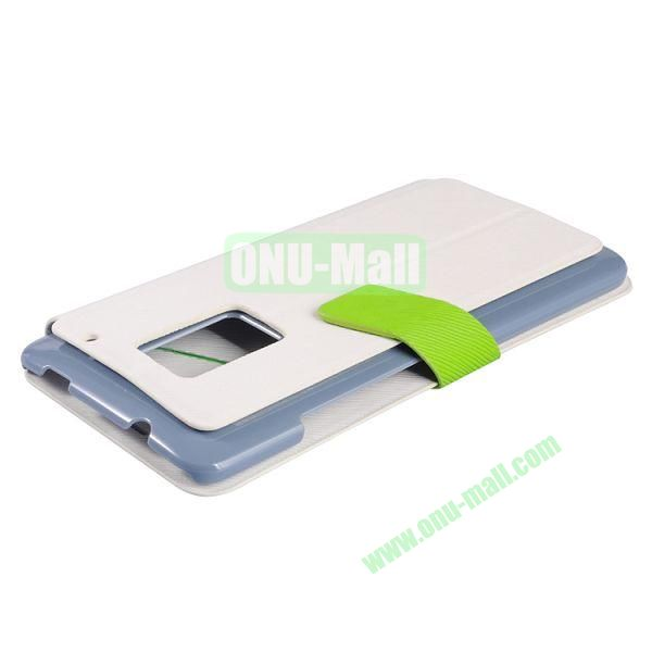 2014 Brand New  Baseus Faith Series Leather Wallet Case for HTC One Max (White)