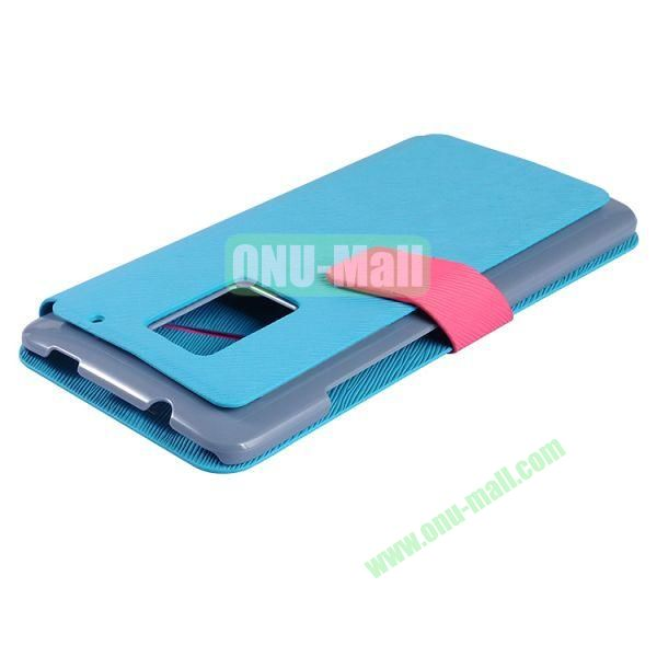 2014 Brand New  Baseus Faith Series Leather Wallet Case for HTC One Max (Blue)
