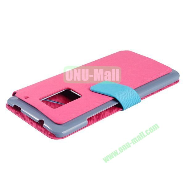 2014 Brand New  Baseus Faith Series Leather Wallet Case for HTC One Max (Pink)