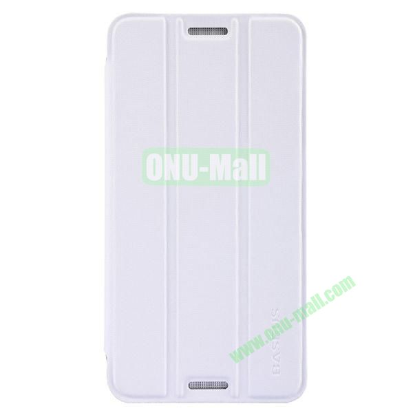 3 Folio Style Baseus Leather Case for HTC One Max Stand Protective Case (White)