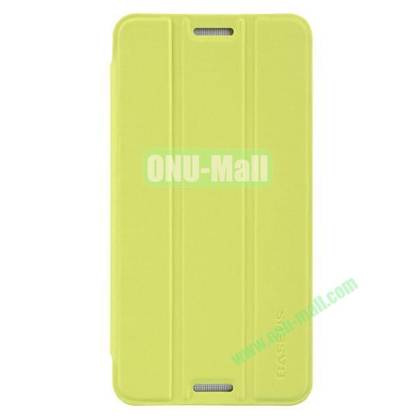 3 Folio Style Baseus Leather Case for HTC One Max Stand Protective Case (Yellow)